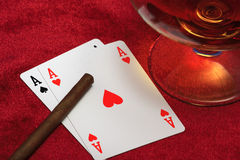 Two aces. Stock Images