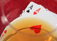 Two aces. Stock Image