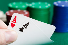 Two aces Stock Photos
