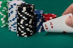 Two aces Royalty Free Stock Photos