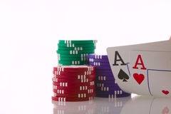 Two Aces Stock Images