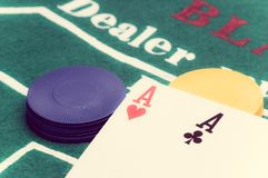 Two aces Royalty Free Stock Photography