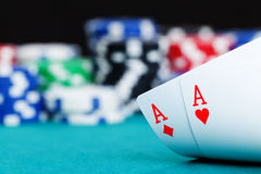Two aces Stock Photography
