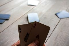 A two aces stock photography