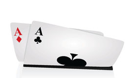 Two Aces. Playing cards, vector illustration Stock Photo