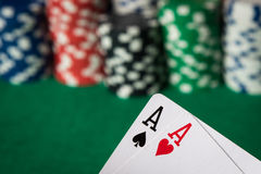 Two aces Stock Photo