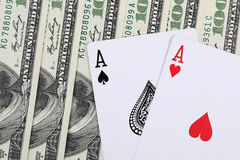 Two aces Royalty Free Stock Images