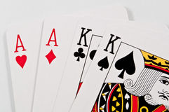 Two aces two kings Stock Photos