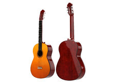 Two acoustic guitars Royalty Free Stock Images