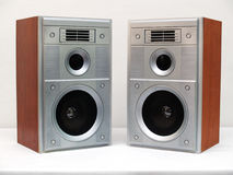 Two acoustic system boxes Royalty Free Stock Images