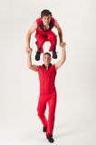 Two acrobats Stock Photography