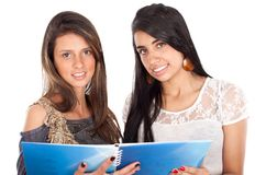 Two active happy teenage girls Royalty Free Stock Photography