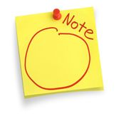 Two adhesive notes royalty free stock photography
