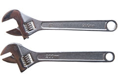 Two adjustable spanner Royalty Free Stock Photo
