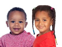 Two adorable african children royalty free stock images