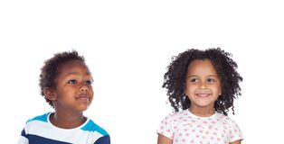 Two adorable african children royalty free stock photography