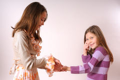 Two adorable girls Royalty Free Stock Photography