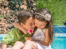 Two Adorable happy kids Stock Photography