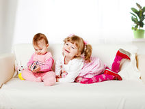 Two adorable kids Royalty Free Stock Photo