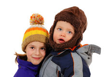 Two adorable kids Stock Photos