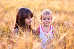 Two adorable sisters Royalty Free Stock Images