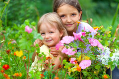 Two adorable sisters Stock Photography