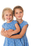 Two adorable sisters Royalty Free Stock Image