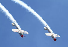 Two Aerobatic Aircraft Royalty Free Stock Images