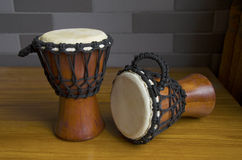 two Africa tambourine(little drums) Royalty Free Stock Photo
