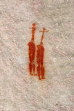 Two african aborigine woman. bushman's artwork. Two african aborigine woman. bushman's prehistoric cave mural in mountains of south africa stock illustration