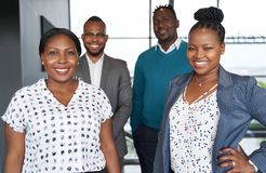 Free Two African American Female Leaders And Two Black Male Business Royalty Free Stock Image - 165046456