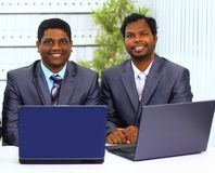 Two african-american in the office Royalty Free Stock Photography
