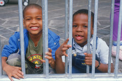 Two African-American schoolchildren Royalty Free Stock Photos