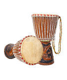 Two African djembe drums Royalty Free Stock Photo