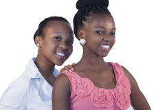 Two African woman smiling Stock Photos
