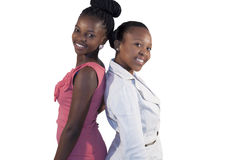 Two African woman smiling Royalty Free Stock Images