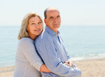 Two aged  lovers spending time together Stock Photos