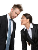 Two aggressive businesspeople Stock Photos