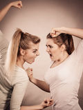 Two agressive women having argue fight Stock Photography