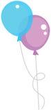 Two air balloons. Color illustr Stock Photos
