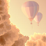Two air balloons, sky and clouds. Stock Photography