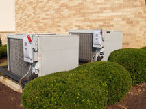 Two air conditioners Stock Images