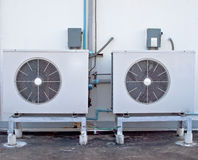 Two air conditioning. On hight building Stock Photo