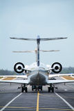 Two aircrafts royalty free stock image