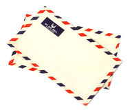 Two airmail envelopes Stock Photography