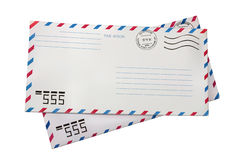 Two airmail envelopes Royalty Free Stock Photos