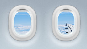 Two Airplane Or Jet Windows Stock Image
