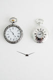 Two alarm clocks Stock Image