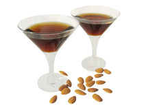Two alcohol goblets Royalty Free Stock Photography
