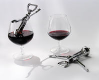 Two alcoholics Royalty Free Stock Photography